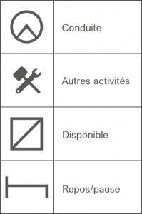 symboles tachygraphe